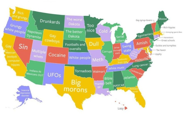 Hilarious Stereotypical Alabama Maps - State stereotypes alabama