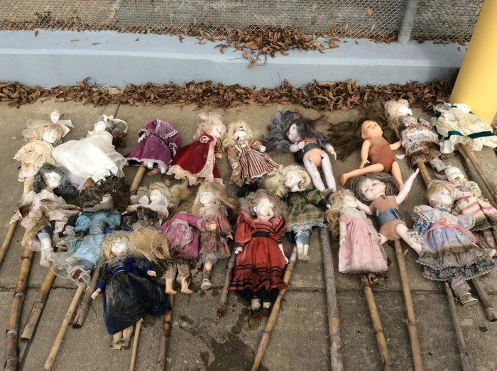 3. Creepy Doll Graveyard