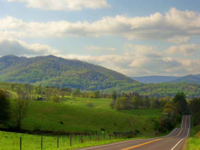 "1. ""Two Lane Blacktop"": One of Virginia's many beautiful backroads."