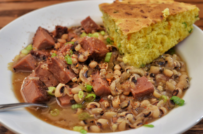 7. Black eye peas and cabbage