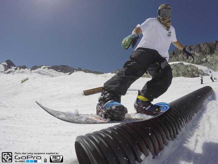 B – Burton Snowboards.