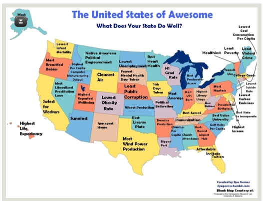 Humorous Maps Of Kentucky That Are Just Perfect: Funny Map Of The Usa At Usa Maps