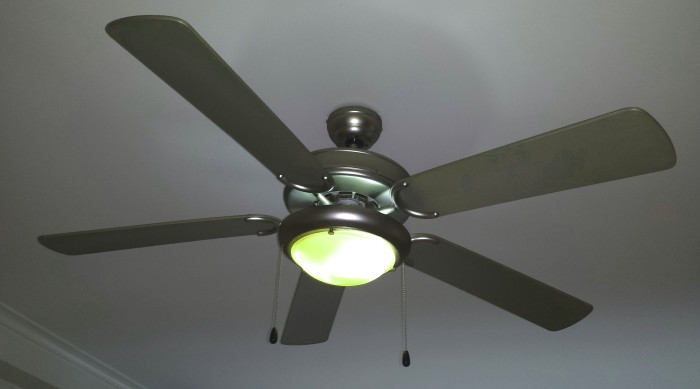 1. This winter, turn your ceiling fan on backwards to push the hot air back down!