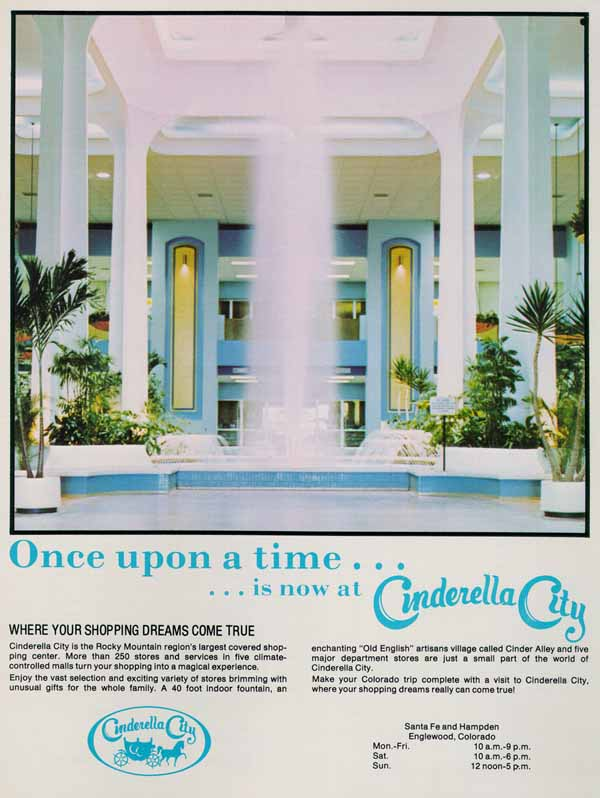 3. Buying Christmas gifts at Cinderella City (because Amazon didn't exist).