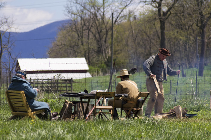 18. A Civil War re-enactment in Tazewell