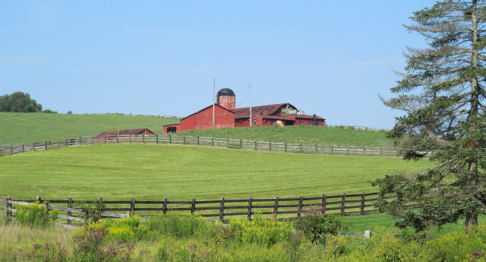 12) This sweet little farm looks straight out of a storybook.