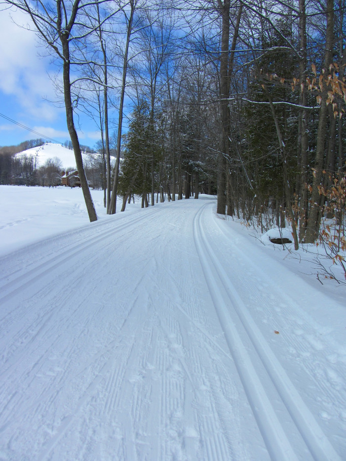 10) Cross country skiing.