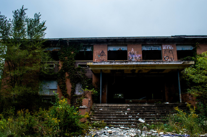 2. Melissa sent me this incredible and spooky picture of an abandoned prep school in Cedar Lake! Would you go inside?