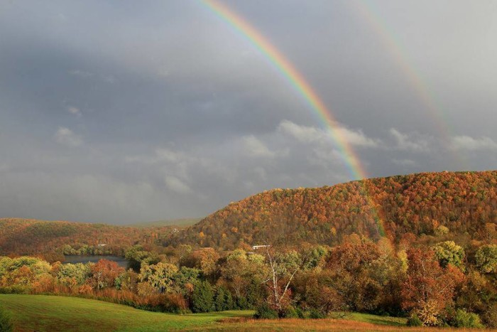 4. The fall trees serve as the perfect pot of gold at the end of this double rainbow in Amherst County. Many thanks to Cindy Harris Peters for this submission.