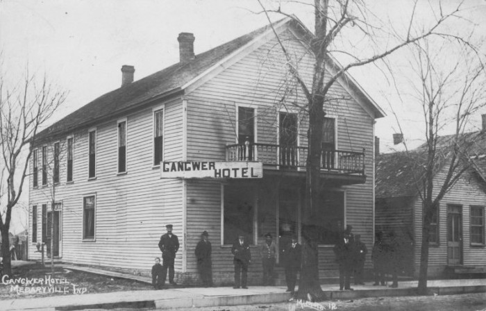 8.  Here is a picture of the Gangwer Hotel, formerly known as the Evert House in Medaryville, Indiana built in the 1850s.