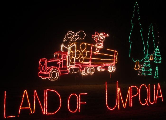 6. The Festival of Lights in Roseburg.