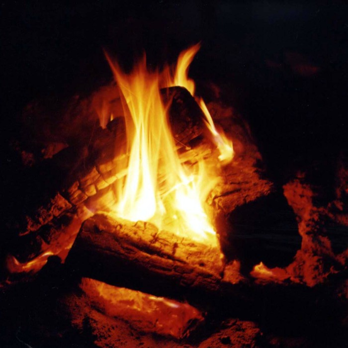 10.  Winter campfires