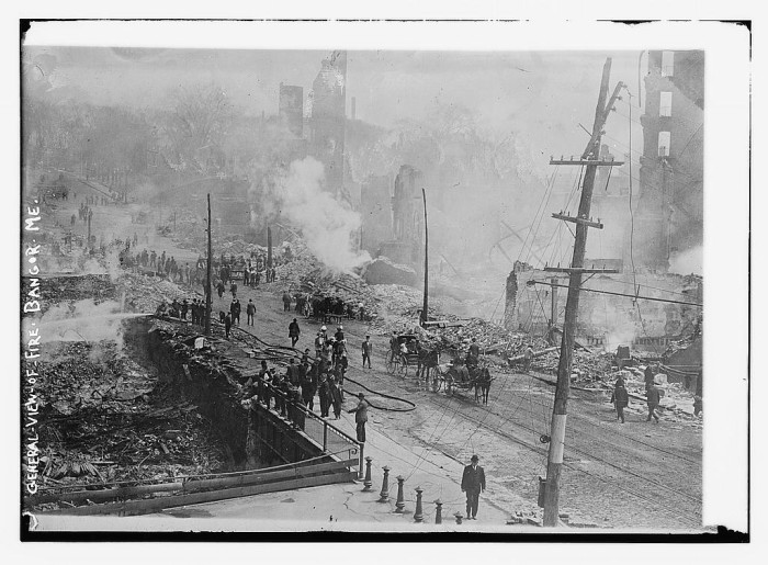 1. The great fire of 1911 in Bangor (1911)