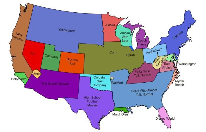 Map Of America Virginia.9 Funny Maps Of Virginia