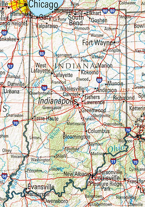 8. Indiana is just a state you pass through.