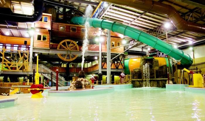 7) Indoor water parks.