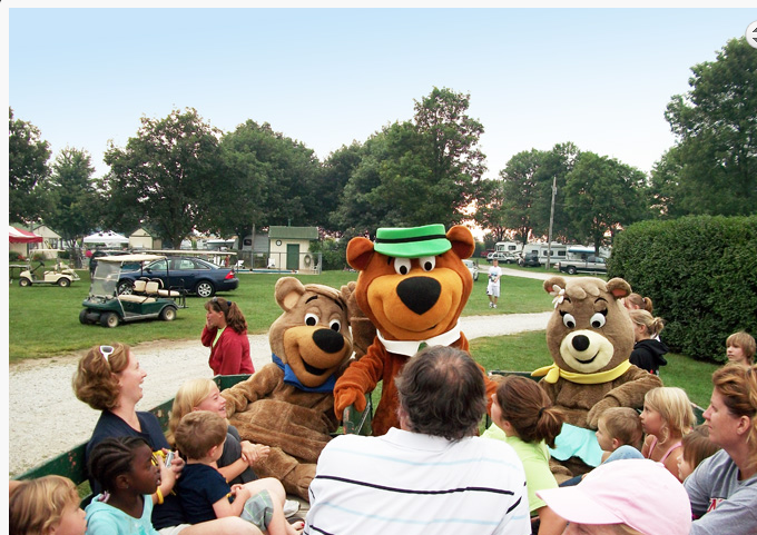 1. You can stay at the Yogi Bear's Jellystone Park.