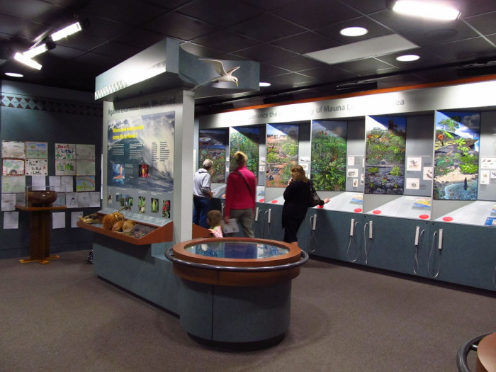 Your first stop will be at the Kilauea Visitors Center.