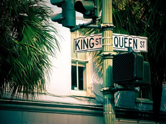 8. King and Queen meet at this corner in Charleston, SC. I saw this and wondered if there was a corner for King and Prince or one for King and Princess....