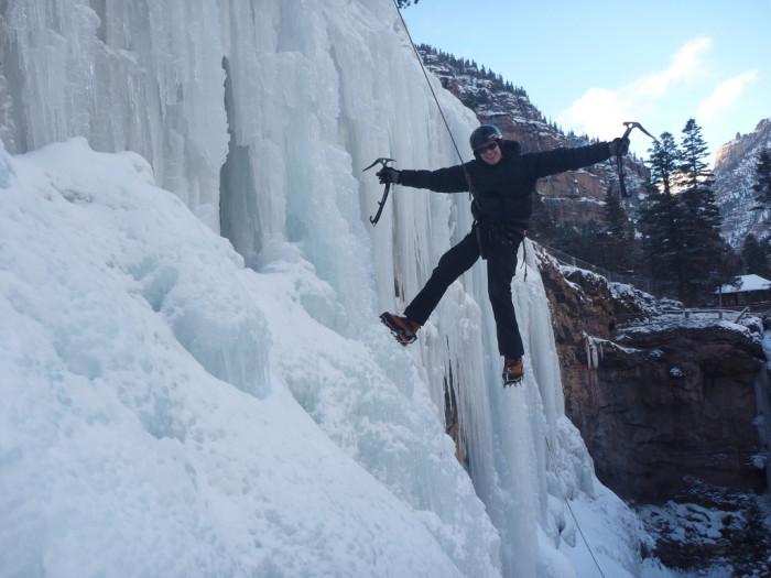7.Ice climbing.