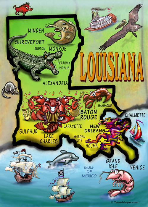 9. All the beautiful sights of our fair state in one map!
