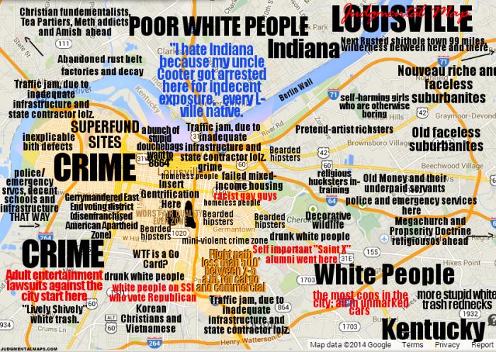 6. Louisville via Judgmental Maps.