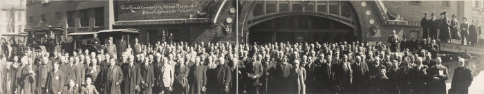 5) This photo was taken during the 1915 Good Roads Convention in Grand Rapids.