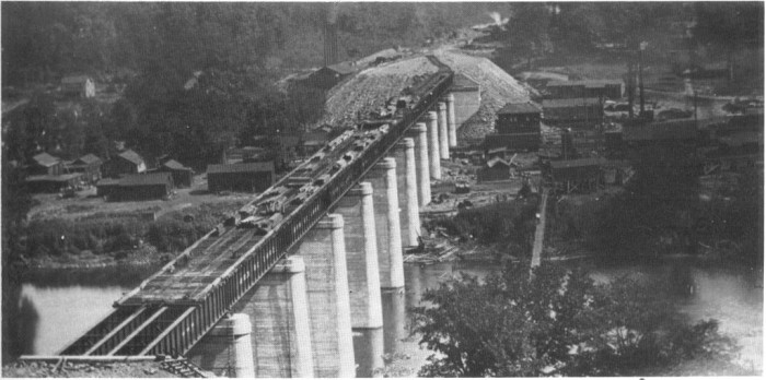 9. This is also a photo of the same bridge being built on the Potomac River near Magnolia.