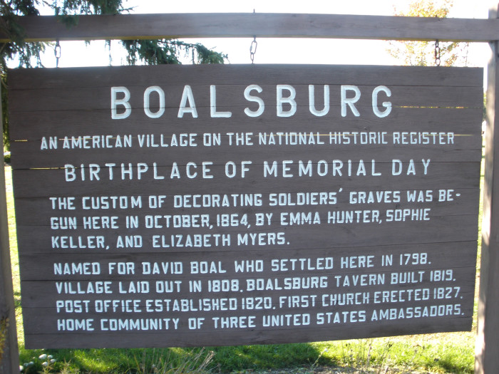 7. Boalsburg, Pennsylvania is the birthplace of Memorial Day.