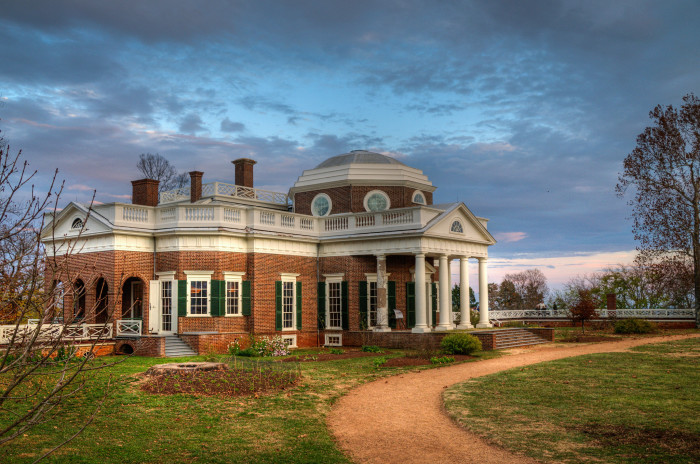 4. Monticello, Thomas Jefferson's historic home, is the only private home in the United States to be named a United Nations World Heritage site.