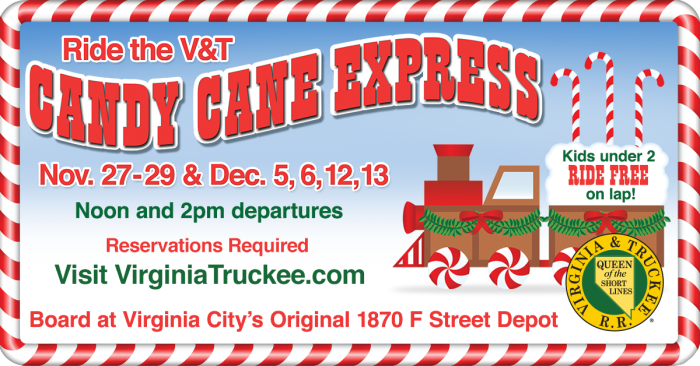 10. Take a ride on the Candy Cane Express.