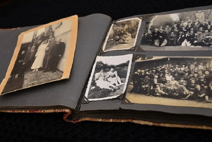 10. Photos were mostly shared through scrapbooks and photo albums.