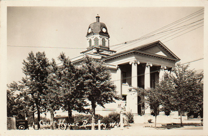13. Here's a shot of the Hampshire County Courthouse in Romney shortly after it was built in the 1920s.