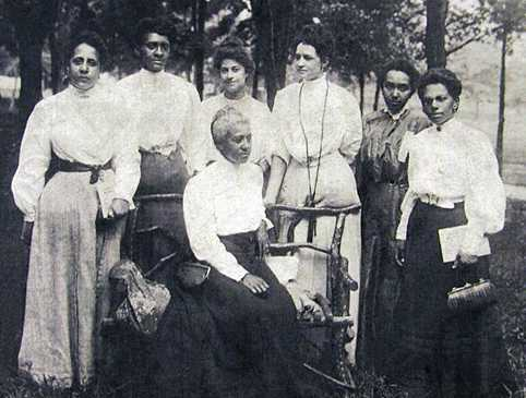 5. Here's a picture of women at a 1906 civil rights movement conference called the Niagara Movement Conference held at Harpers Ferry.