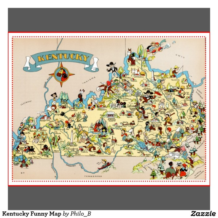 Humorous Maps Of Kentucky That Are Just Perfect