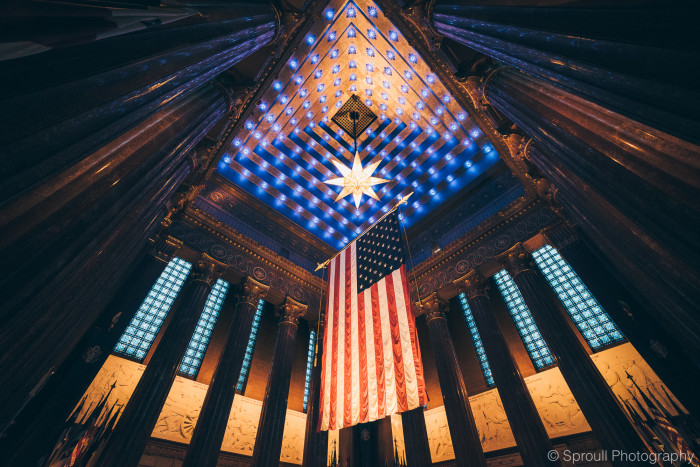 19. The owner of Sproull Photography shared an incredible shot of the inside of the War Memorial in Indianapolis. Neat!