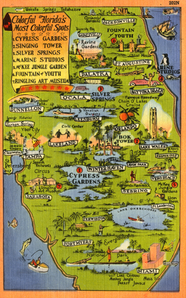 Florida Theme Parks From The Past – Orlando Florida Tourist Attractions Map