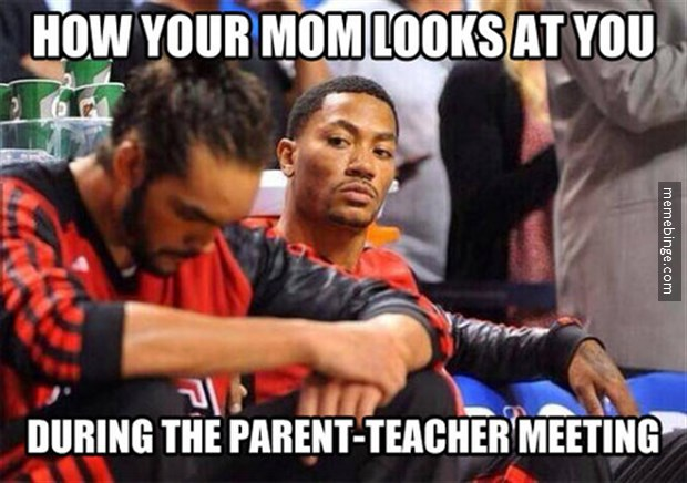 5. You didn't mess up in class, because parent / teacher conferences were not limited to the classroom. They're going to happen at church, at the grocery store or wherever your teacher runs in to your parents. And they WILL run into your parents.