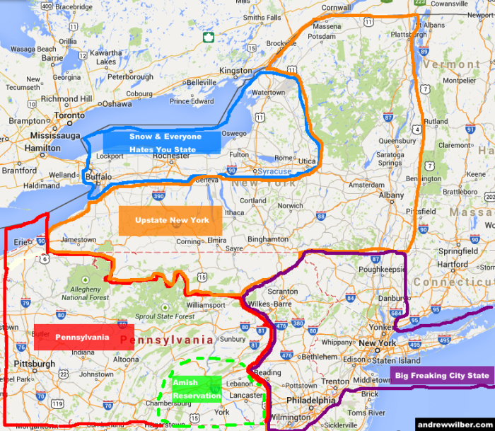 6 Maps Of Pennsylvania That Are Too Perfect And Hilarious
