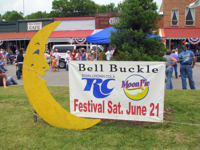 6) The renowned RC Cola and Moon Pie Festival is held here in June