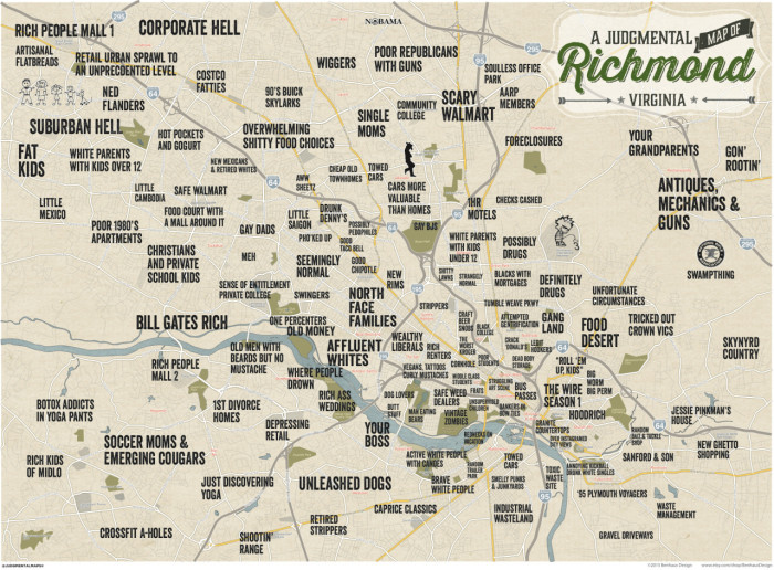 4. RIchmond: Our state capital as viewed by Judgmental Maps.
