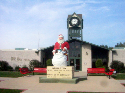 8. Santa Claus, Indiana exists.