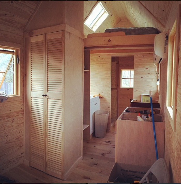 Here's an interior shot of the tiny house in progress.