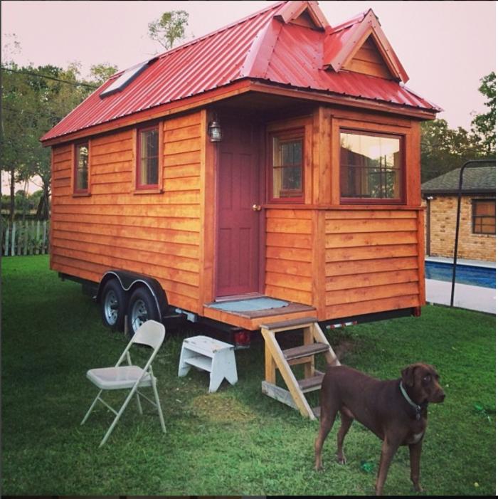 Derek built this tiny house himself!