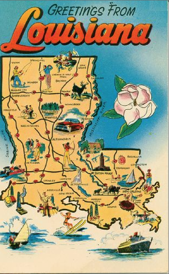 Hilarious Maps of Louisiana