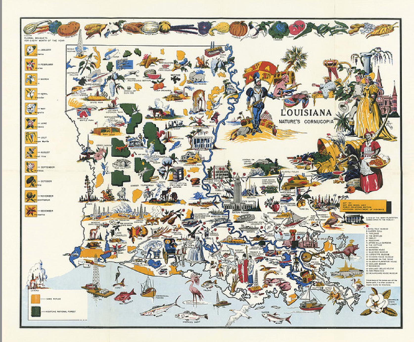 Hilarious Maps of Louisiana on
