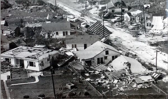 Making landfall as a category 4 storm, Audrey packed an enormous punch.