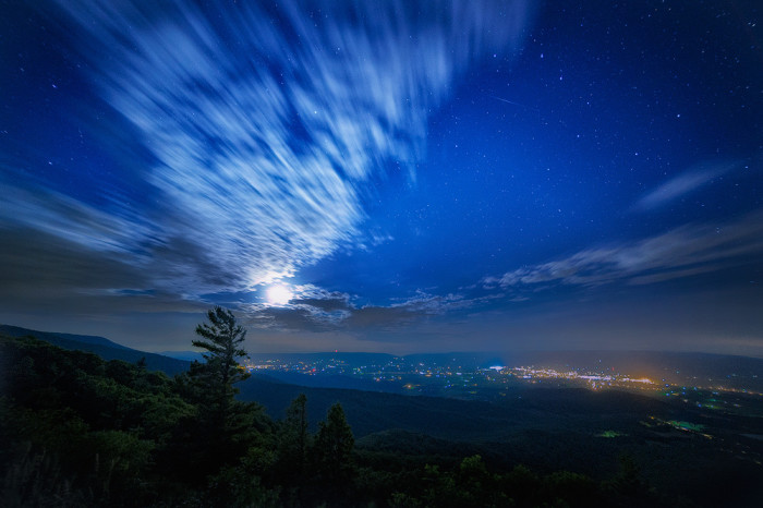 7. Shenandoah National Park takes on an otherworldly glow in this nighttime photo.