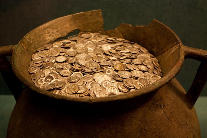 5. Silver coins on Big Branch Creek