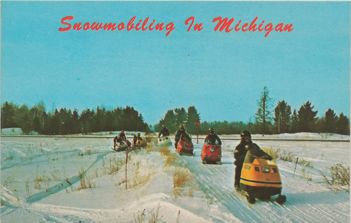 4) Snowmobiling.